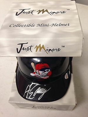 Hanley Ramirez Lowell Spinners Signed Mini Helmet AUTO 2004 Just Minors Red Sox