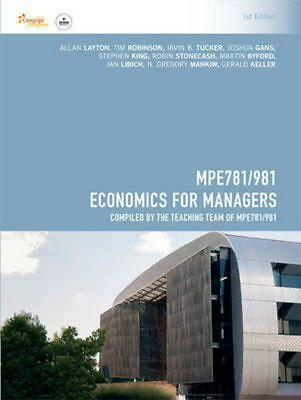 CP1070 - MPE781 Economics for Managers by Allan Layton Paperback Book Free Shipp
