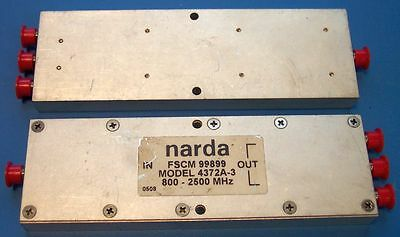 Narda 4372A-3 Power Divider 3-Way SMA 800 to 2500 MHz - works at 2.4GHz WiFi