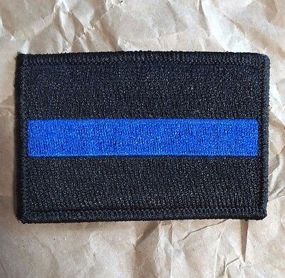 Thin Blue Line Tactical Patch, VELCRO® Brand Back