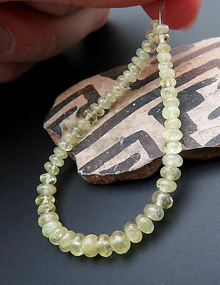 52 STUNNING 3.2-4.6mm NATURAL YELLOW CHRYSOBERYL BEADS 5.25 17.65cts