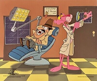 Pink Panther Inspector Clouseau DENTIST Animation Art Cel Sericel Limited Editon