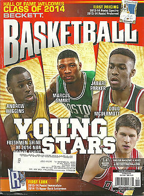 Beckett Basketball Card Price Guide October 2014 Young Stars Cover