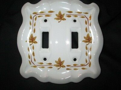Roccoco Florentine Elegance Gold Decorated Porcelain Double Light Switch Plate