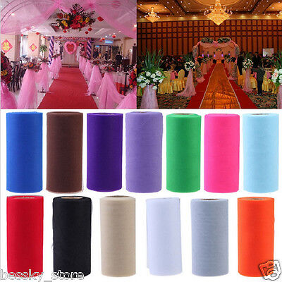 25 Yards DIY Colorful Tulle Paper Wedding Decoration Roll Birthday Holiday Decor