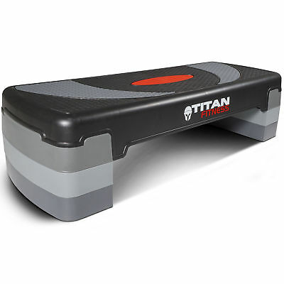 "Titan Fitness Medium Aerobic Step 4""-8"" Step w/Risers Gym Home Exercises Workout"