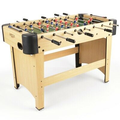 4ft Football Sports Games Table Full Size Wooden Beech Finish JumpStar