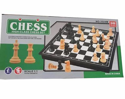 Chess High Class Pocket Magnetic Scale 1:1 Strategy game