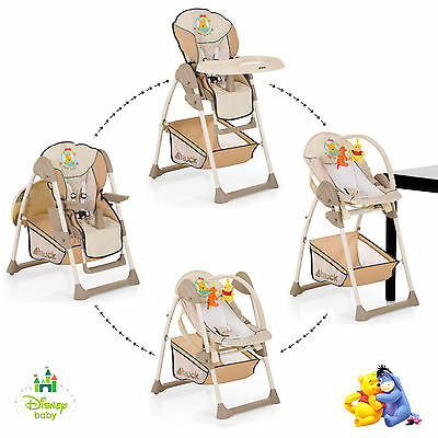 New Hauck Sit N Relax 2 In 1 Baby High Chair / Bouncer Pooh Ready To Play
