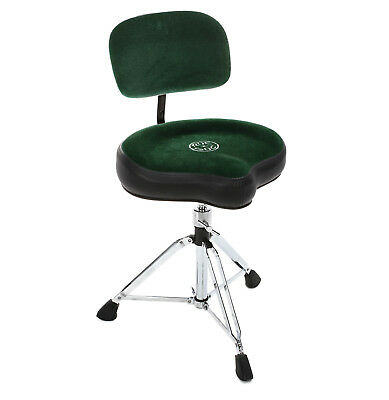 Roc n Soc Moto Seat Drum Stool Throne With Backrest GREEN