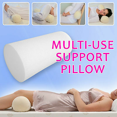 BACKACHE Neck Knee SUPPORT PILLOW BACK LOWER PAIN RELIEF Roll Round Tube Foam