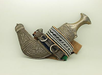 Antique Original Perfect  Silver Arabian Islamic Amazing Handmade Dagger