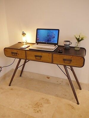 Vintage Industrial Urban Style Desk Console Table Metal Wood NEW IN STOCK