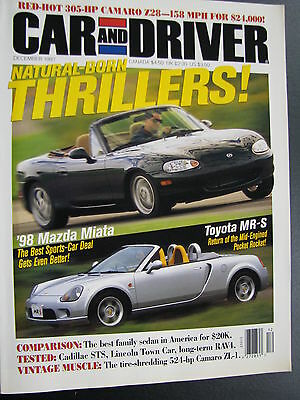 Magazine Car and Driver Issue December 1997 (English) (JS)