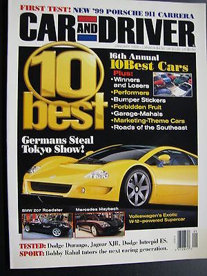 Magazine Car and Driver Issue January 1998 (English) (JS)