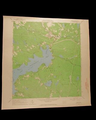 Hawley Pennsylvania vintage 1967 original USGS Topographical chart
