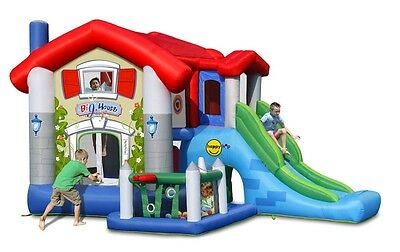 Duplay Bigger House 9 in 1 Bounce House Inflatable Castle with Slide