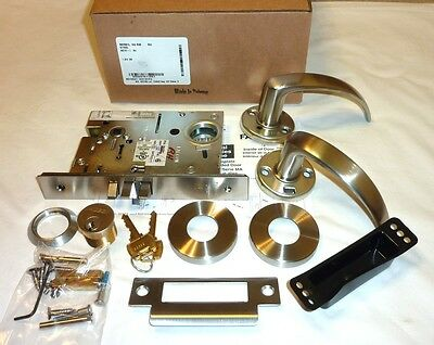 Falcon MA581L QG 630 Commercial Storeroom Mortise Door Lock Grade 1 STAINLESS