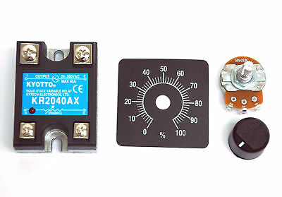 10pc KYOTTO AC Solid State Relay SSR KR2040AX 280VAC 40A [ VR to AC ] ** By EMS