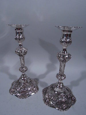 Marshall Field Candlesticks - 5072 - Rococo Pair - American Sterling Silver