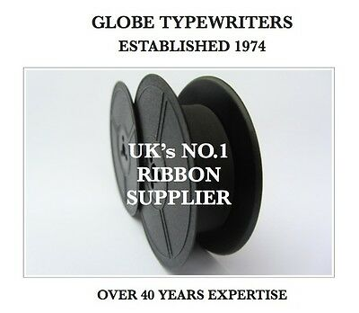 1 x UNDERWOOD NOISELESS 77 *BLACK* TYPEWRITER RIBBON *MANUAL REWIND+INSTRUCTIONS
