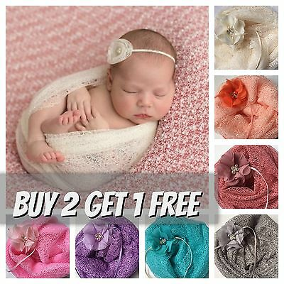 Boy Girl Newborn Soft Mesh Gauze Wrap Swaddle Baby Photography Prop Backdrop