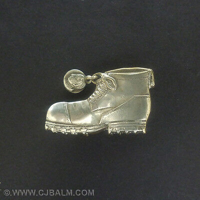 Unusual Victorian Mountaineering Boot Lapel Badge / Brooch. c.1900