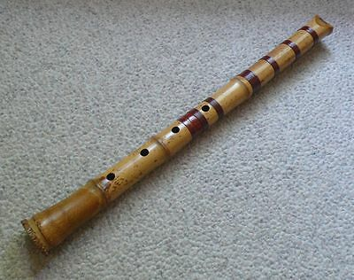 SALE PUERTO RICO RELIEF JAPANESE 1.7 SHAKUHACHI BAMBOO FLUTE by PERRY YUNG