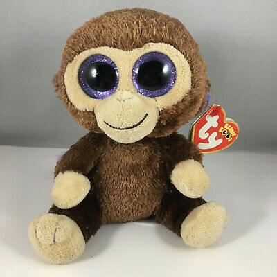 "Ty 6"" Coconut Brown Monkey Beanie Boos Plush Stuffed Animal New w/ Tag MWMT's"