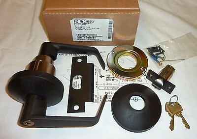 Falcon B501PD DAN 613 Entry Door Lock Lever Set Grade 2 Dane DARK BRONZE NEW!
