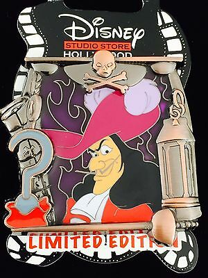 Disney Pin Dsf Captain Hook Stained Glass Villains Frame Pin Le 400 Peter Pan