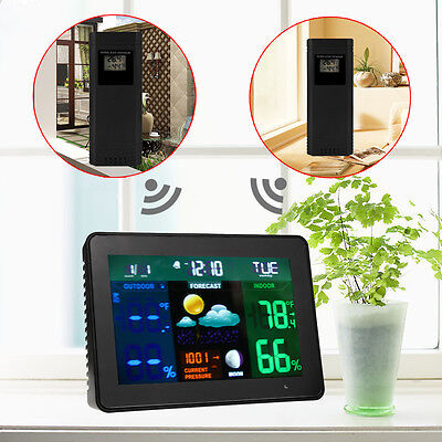 2 Sensor Wireless Weather Station RCC Forecast Thermometer Humidity Hygrometer