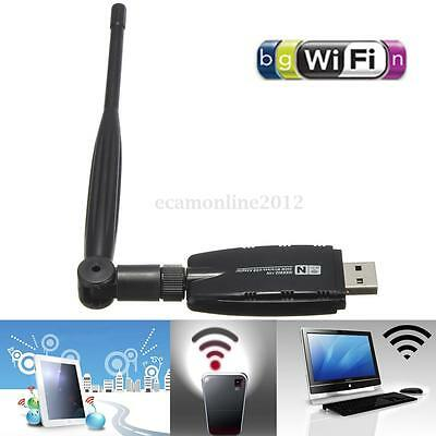 300Mbps USB WiFi Mini Wireless Network Adapter Card 802.11n/g/b Antenna For PC