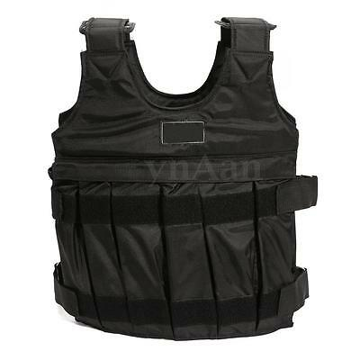 50KG Adjustable Weighted Vest Loss Training Boxing Running Jacket Waistcoat New