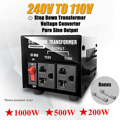 200W/500W/1000W AU-US Step Down Transformer Stepdown Voltage Converter AU PLUG