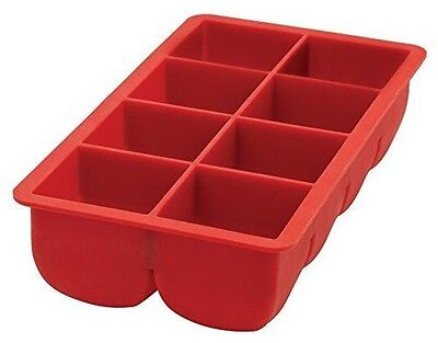 HIC Harold Import Co. HIC Flexible Big Block Cocktail Ice Cube Tray, Silicone, 2