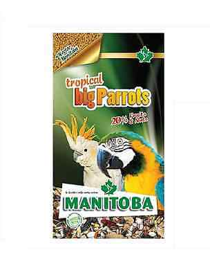 MANITOBA TROPICAL BIG PARROTS mangime MISCELA PAPPAGALLI alimento uccelli kg 2
