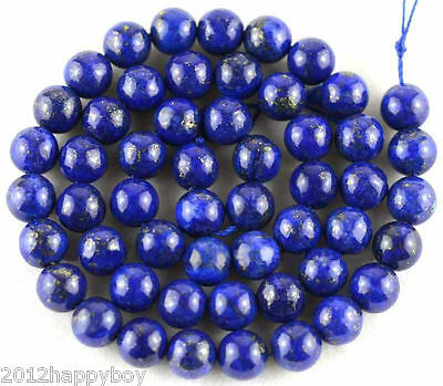 Natural Lapis Lazuli Round Loose Stone Beads 4/6/8/10/12mm Europ Jewelry Making