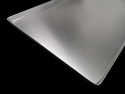 10x COUNTER SHEET BAKERY SILVER 60x40x2cm ALUMINUM NEW DISPLAY TRAYS