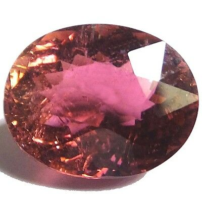 NATURAL VERY NICE RED PINK TOURMALINE GEMSTONES (11.7 x 9.3 mm) LARGE OVAL CUT