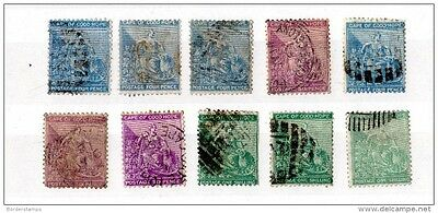 Cape of Good Hope 1864-77 Collection of 10 Values X706