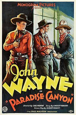 """Paradise Canyon"" ..John Wayne..Classic Western Movie Poster A1A2A3A4Sizes"