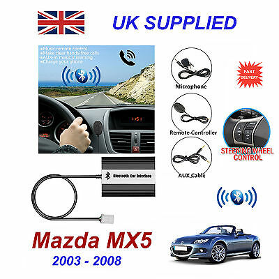 Mazda MX5 Bluetooth Hands Free Phone AUX Input MP3 USB 1.0A Charger Module 03-08