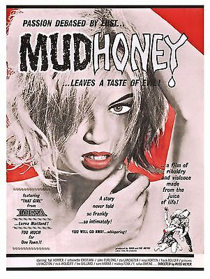 """Mudhoney"" Russ Meyers Classic 1965 ""B"" Movie Poster A1A2A3A4Sizes"