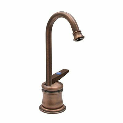 Whitehaus WHFH3-C55 1-Handle Instant Cold Water Dispenser in Antique Brass -Open