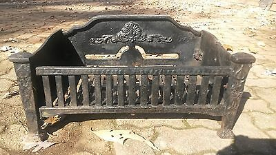 Antique Cast Iron Fireplace Grate Early 1900's
