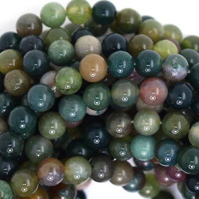 """Indian Agate Round Beads Gemstone 15.5"""" Strand 4mm 6mm 8mm 10mm 12mm"""