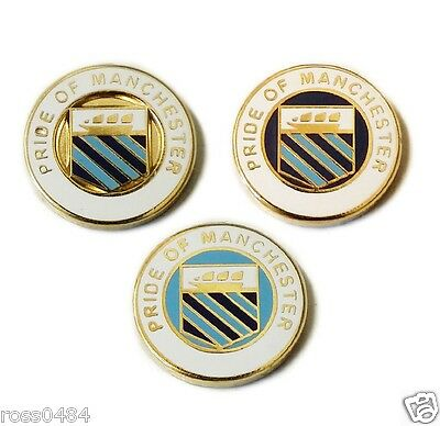 Pride of Manchester Pin Badge Selection Gift Fathers Day Christmas City