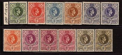 SWAZILAND....  1938  x12 to 1/- mint, later issue perf 13½x14
