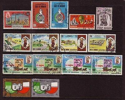 BAHRAIN....  1968-76  x15 different used stamps high cat value